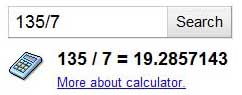 Use Google as a calculator