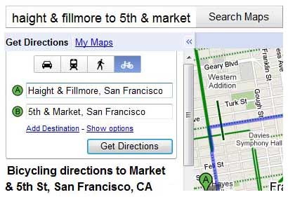 oogle provides walking directions