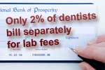 Dentists: Few bill separately for dental lab fees