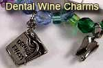 Dentist gifts: dental wine charms