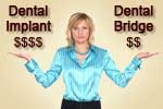 Dental implant or dental bridge? Economy a facotr for patients at dentist's office