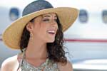 Teeth whitening for airport travelers
