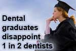 Dental school graduates disappoint dentists