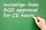 Invisalign loses AGD approval for dental continuing education