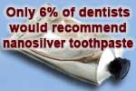 Only 6% of dentists would recommend nanosilver toothpaste