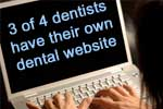 3 of 4 dentists have their own dental website