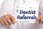 Dentist referrals to dental specialists
