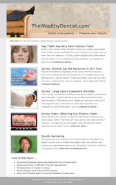 The Wealthy Dentist weekly dental newsletter