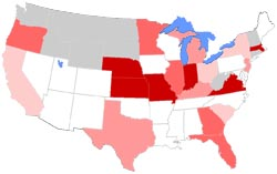 USA map of dental office romance