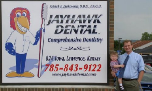 Jayhawk Dental Sign