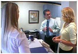 Dr Silverman teaching the receptionist the 80% Rule at Boot Camp