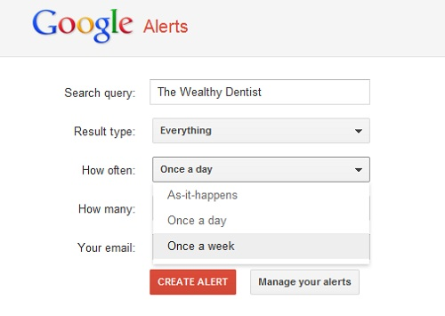 Google Alerts for Your Dental Practice: How often
