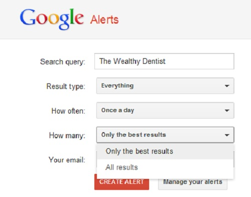 Google Alerts for Your Dental Practice: How many
