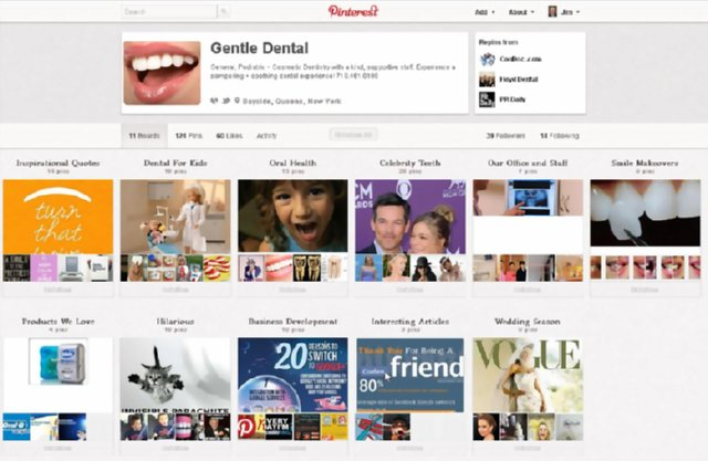 Examples of dentists on Pinterest: Gentle Dental Care