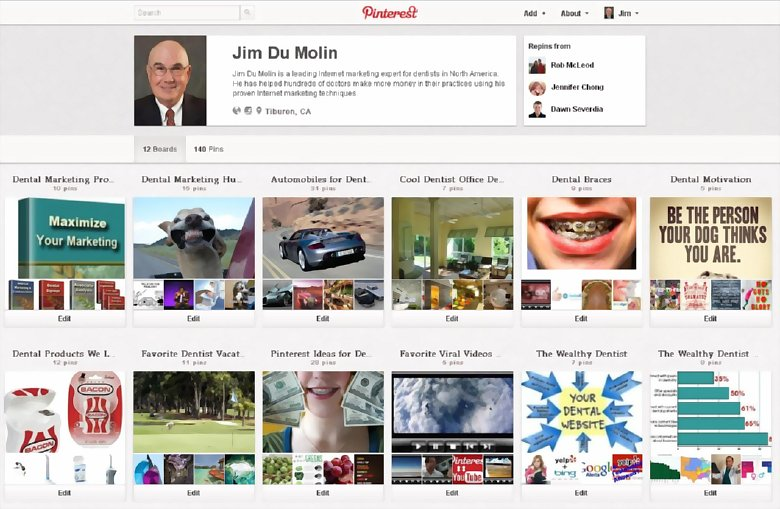10 Ways Dentists Can Use Pinterest: The Wealthy Dentist Pinterest page